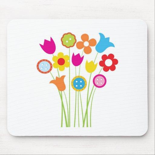 Carte de voeux lumineuse avec des fleurs et des bo tapis de souris
