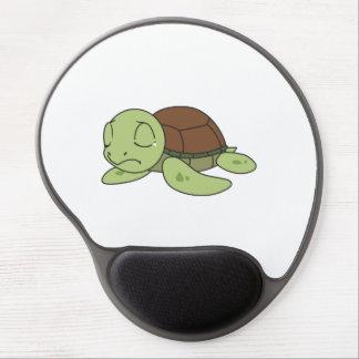 Carte de voeux mignonne pleurante de tortue de tapis de souris en gel