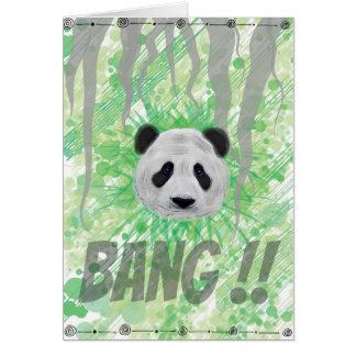 Carte de voeux Panda