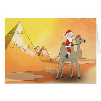 carte de voeux père Noël en Egypte