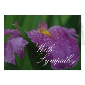 Carte de voeux pourpre d'iris