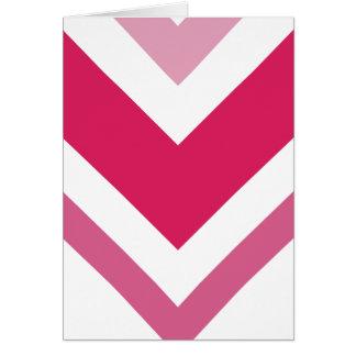 Carte de voeux rose de Chevron