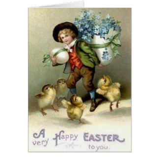 Carte de voeux victorienne de Pâques