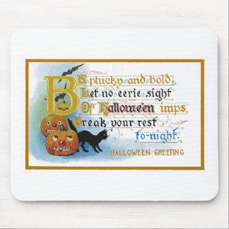 Carte de voeux vintage de Halloween Tapis De Souris