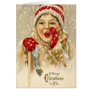 Carte de voeux vintage de Joyeux Noël