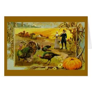 Carte de voeux vintage de thanksgiving