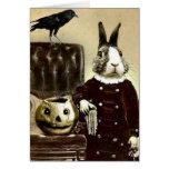 Carte de voeux vintage surréaliste de Halloween d'
