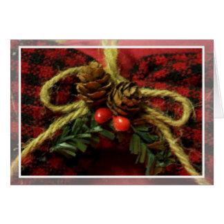 Carte démodée d'arc de Noël