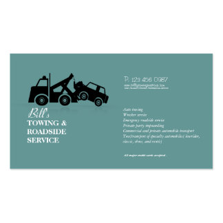 Carte d'entreprise de services de naufrageur de bo cartes de visite personnelles