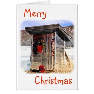 Carte-Dépendance de salutation de Noël Carte