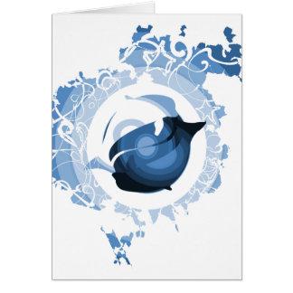 Carte d'équilibre de dauphin (rétro bleu)