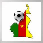 Carte des cadeaux de ballon de football du Camerou Poster