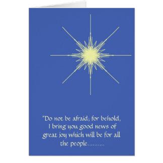 Carte d'étoile de Noël