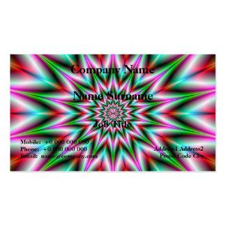 Carte d'étoile de vert et de rose cartes de visite professionnelles