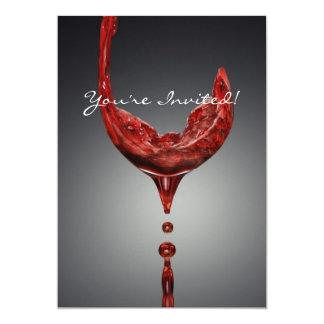 Carte d'invitation de vin carton d'invitation  12,7 cm x 17,78 cm