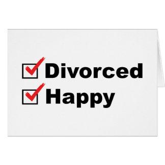 Carte Divorcé et heureux