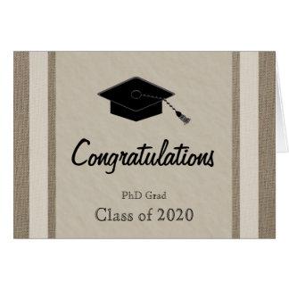 Carte d'obtention du diplôme de PhD