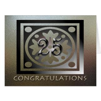 Carte D'or élégant de 25ème anniversaire des employés