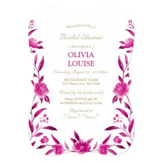 Carte Douche nuptiale de Chinoiserie floral rose