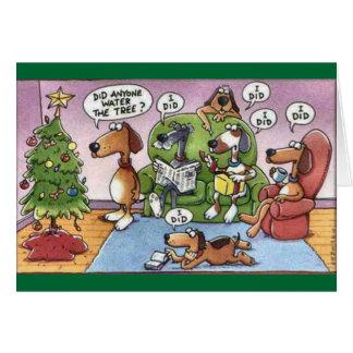 Carte drôle de chien de Noël