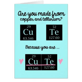 Carte drôle de jour de Valentines de chimie