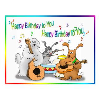 Carte drôle de joyeux anniversaire avec le jeu de cartes postales