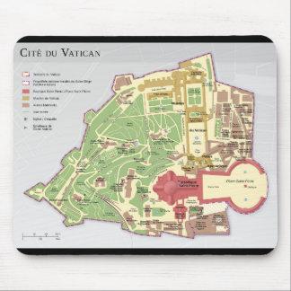 Carte du Cité du Vatican Diagramme Mouse Pad