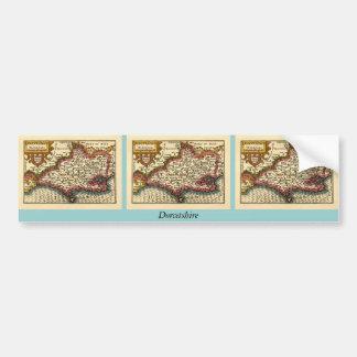 """Carte du comté de """"Dorcetshire"""" (Dorsetshire) Dors Autocollant De Voiture"""