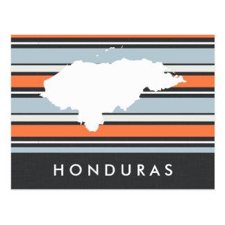 Carte du Honduras : Rayures modernes Carte Postale