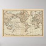 Carte du monde 2 posters