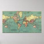 Carte du monde en 1919-1921 posters
