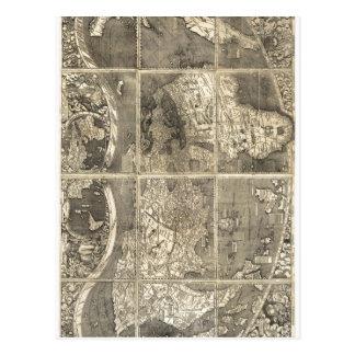 Carte du monde Universalis Cos de description somm Carte Postale