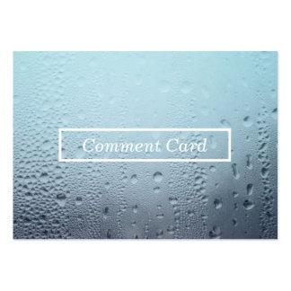 carte en verre cuite à la vapeur de commentaire carte de visite grand format