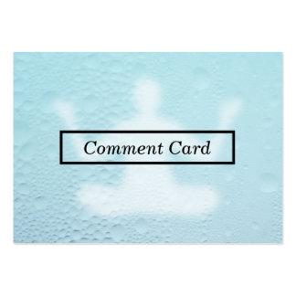 carte en verre cuite à la vapeur de commentaire de carte de visite grand format