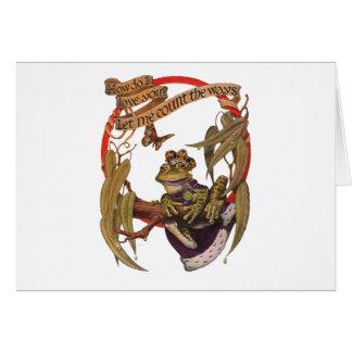 Carte enchantée de prince note de grenouille