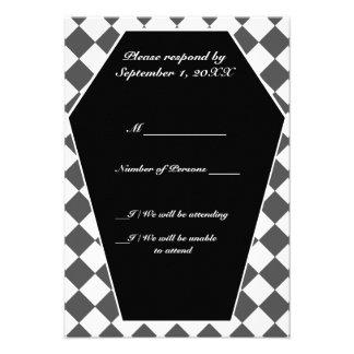 Carte ene ivoire de Damier (fumée) RSVP Cartons D'invitation Personnalisés