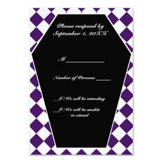 Carte ene ivoire de Damier (indigo) RSVP Carton D'invitation 8,89 Cm X 12,70 Cm