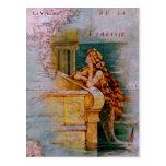Carte et sirène nautiques antiques carte postale