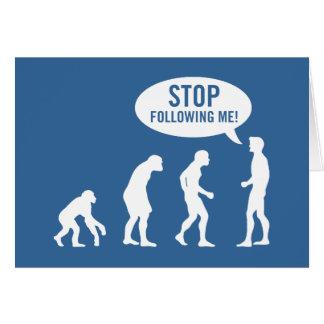 Carte évolution - cessez de me suivre !
