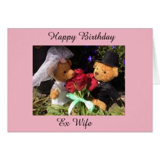 carte ex d'épouse de joyeux anniversaire