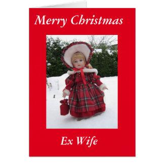 Carte ex d'épouse de Joyeux Noël