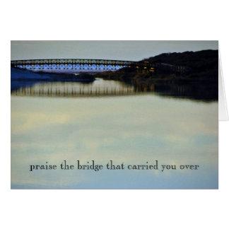 Carte Félicitez le pont