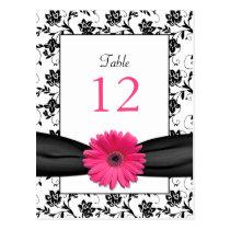 Carte florale blanche de Tableau de mariage de noi Carte Postale