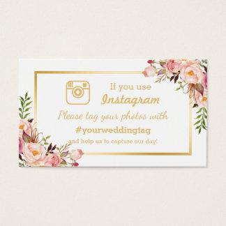 Carte florale chic d'insertion de mariage