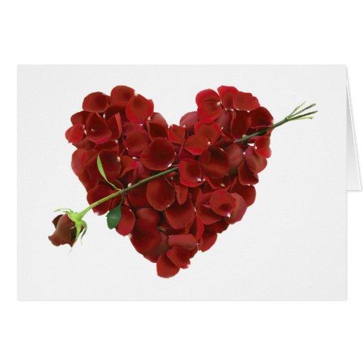 Carte florale de coeur de Valentine