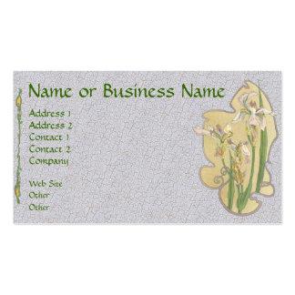 Carte florale de profil d'affaires d'iris jaune cartes de visite professionnelles