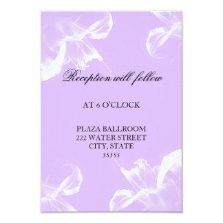 Carte florale de réception de mariage de lis tigré carton d'invitation 8,89 cm x 12,70 cm