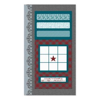 carte fréquente d'acheteur de motif cartes de visite professionnelles