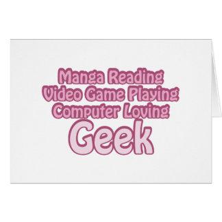 Carte Geek rose