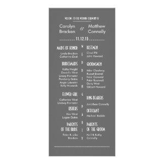 Carte grise moderne chic de support de programme d